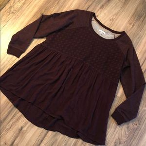 Maurices Burgundy Sweater